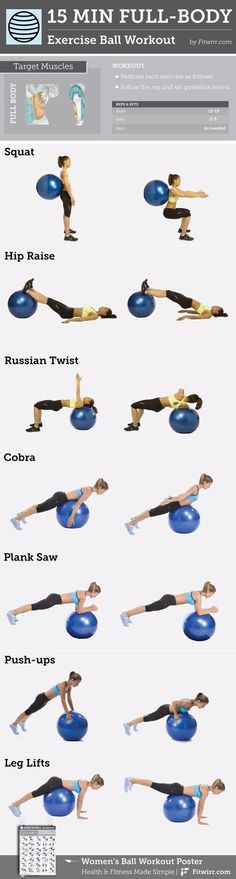 15-Minute Full-Body Exercise Ball #Workout content @ https://www.pinterest.com/dcindcmedia/