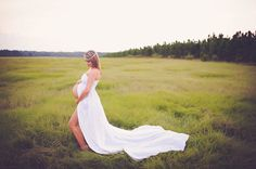 Stunning Maternity Dress Maternity Photography by CoutureParfait