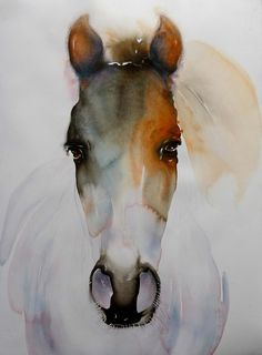 i like this because of how the face is the centre of the piece and how the body of the horse just sorta fades out