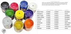 Speedball Opaque Screen Printing Inks Color Chart