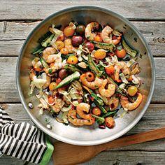 Skillet Roasted Okra and Shrimp
