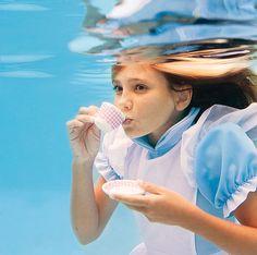 A little underwater sip ...... by Elena Kalis