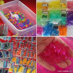 I've been oogling over water beads for a while now, they look so fun and would make a great base to any sensory bin! I did a search and found a great deal on Amazon and went for it. This is n…