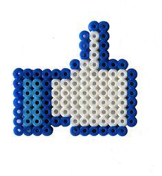 Facebook Thumps Up perler bead by Pantflaske