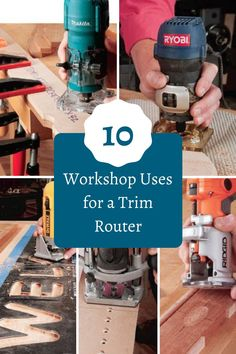 The trim router is a tool that might not get much use in some shops, but it is unique and a surprisingly versatile tool. They're lightweight, powerful and small enough to go places other bulky routers can't. If you only use yours for trimming plastic laminate, think again. Here are 10 ways to get that half-pint router out of the cobwebs and into the action much more often.  #createwithconfidence #learnwithrockler #trimrouter #trimrouteruses #workshopaccessories