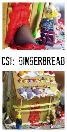 Child-led gingerbread house decorating - let kids create their own mysteries to solve with the house Christmas Treats, Christmas Time, Preschool Christmas Activities, Gingerbread Decorations, Small World Play, Winter Theme, Child, Homemade, Decorating