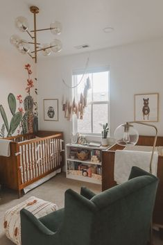 Today we are sharing every detial of our twin girls cactus themed desert oasis twin nursery! Come join us and step into a little desert oasis! Western Baby Nurseries, Western Nursery, Baby Boy Nurseries, Vintage Cowboy Nursery, Nursery Twins, Nursery Themes, Nursery Room, Elephant Nursery, Nursery Ideas