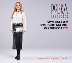Pani Dominika Chryn w naszej czarnej spódnicy z frędzlami (3742) oraz białej koszuli z kolekcji zima 2015/2016.  #PolskaModa #Moda #Ezuri #Ezuripl #ELevy #kobieta #glamour #koszula #spódnica #zima #kolekcjazima