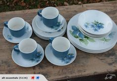 Crown Lynn 'Sapphire' Dinner Set 20pc | Trade Me