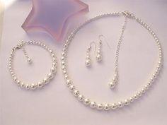 Classic Pearl jewelry set - Grace
