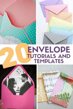 How to turn envelopes into a scrapbook - envelope scrapbookHow do I create an envelope scrapbook?Cover books: Instructions for binding paperMake book with envelopes yourself.Top 20 tutorials on paper envelopes and printable templates The clever Neli Quilling, Diy Envelope Template, Diy Envelope Tutorial, Homemade Envelopes, Envelope Book, Envelope Scrapbook, How To Make An Envelope, How To Make Envelopes, Making Envelopes