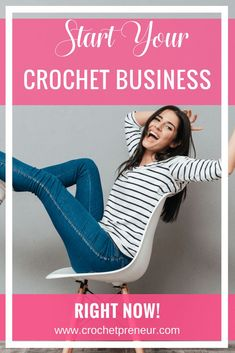 If you're a crocheter who is thinking about starting a crochet business NOW, rather than taking the weeks long step-by-step approach, this is how you do it. #makemoneyfromcrochet #crochetbusiness #hobbytobusiness #passiontoprofits #pasttimetoprofits #handmadebusiness #crochetseller #crochetshop #howtostartasellingcrochet #sellingcrochet