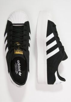 adidas Originals SUPERSTAR RIZE - Sneaker - core black/white/gold - Zalando.de