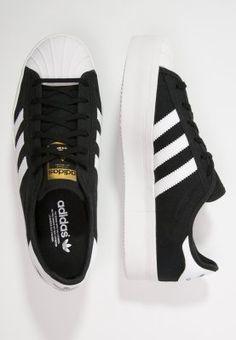 adidas Originals SUPERSTAR RIZE - Sneakers - core black/white/gold - Zalando.dk