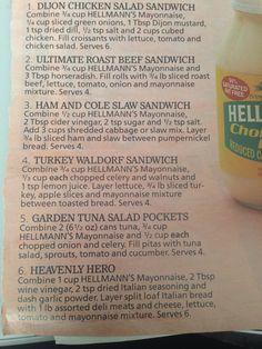 Sandwich ideas sandwich idea