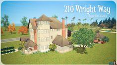210 Wright Way for #TheSims3 #DeSims3 #nostalgia #Sims #SimsHouses #Sims3Houses #Pleasantview #Droomzicht