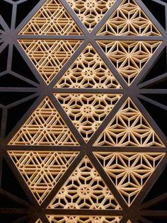 Japanese traditional wooden lattice work
