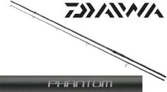 Daiwa Phantom Carp, 12 foot, 3lb test curve, 2 section Rod  Brand new in the Daiwa series - the Phantom Carp, as with the the Daiwa Black Widow range, comes with a strong backbone and progressive tip action.   Titanium oxide double leg guides and black matte finish perfectly complete the rod.