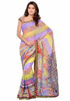 Fabdeal Indian Designer Wear Blue & Green Printed With Lace Border Saree Fabdeal Inc, http://www.amazon.fr/dp/B00HWUKYRK/ref=cm_sw_r_pi_dp_WUqotb1V7EC8R
