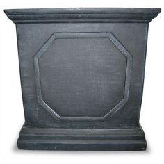 18 in. Square Dark Gray Fiberglass Planter-100514315 - The Home Depot