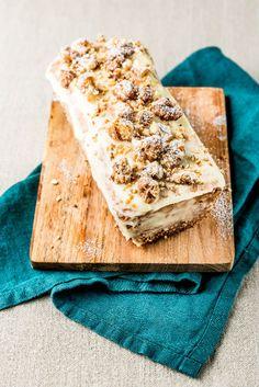 cake de Noel café/ noix:chocolat blanc