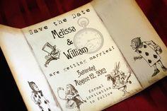 Alice in Wonderland Invitation - Save the Date - Vintage Appearance. $4.00, via Etsy.