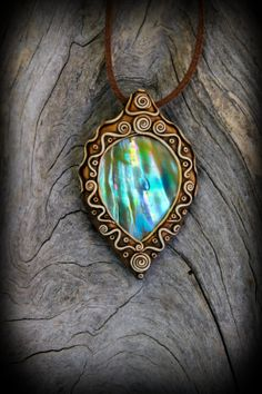 Tear Abalone Pendant Shell Mother Pearl by PeaceElements on Etsy,