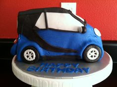 Smart Car cake Cake Portions, Car Cakes, Smart Fortwo, Street Smart, Big Love, Piece Of Cakes, Creative Cakes, Swatch, Birthday Cake