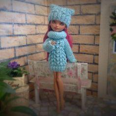 Вязаный аутфит для кукол Ever After High и Monster High / Одежда для кукол / Шопик. Продать купить куклу / Бэйбики. Куклы фото. Одежда для кукол