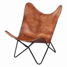 Nashville Cowboy Leather Chairs by Cambrewood, the perfect gift for Explore more unique gifts in our curated marketplace. Devon, Website Design, Butterfly Chair, Stitching Leather, Find Furniture, Tan Leather, Cowboy Hats, Take That, Cool Stuff