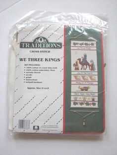 Traditions We Three Kings Cross Stitch Christmas T8101 NEW Bell Pull Wise Men #Traditions