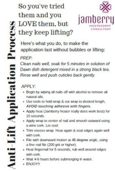 Having issues with your wraps? Here are a few helpful tips... http://kimberb.jamberrynails.net/
