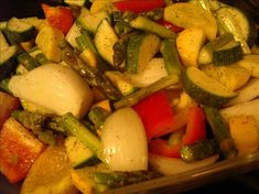 South Beach Roasted Veggies - the absolute best veggie dish of all time - just use your favorites.