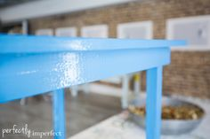 Small Farm Table Makeover | Chalk Paint White Wax Tutorial