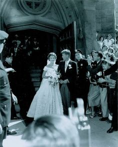 These Rare Photos From JFK And Jackie O.'s Wedding Were Found In A Darkroom