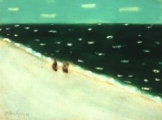 Milton Avery, Green Sea 1958, a painting at lands end.