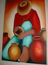 Mexican Paintings, African Art Paintings, Art Sketches, Art Drawings, Peruvian Art, Southwestern Art, Naive Art, Mexican Folk Art, Fabric Painting