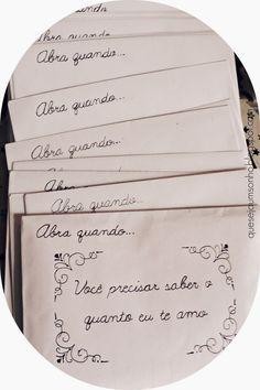 """Que seja um sonho: DIY & Ideias de presentes para namorados: Cartas """"Abra…"""