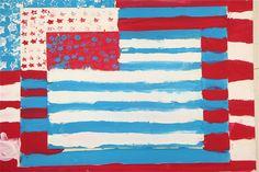 Splish Splash Splatter: Jasper Johns Flag Paintings 6th grade