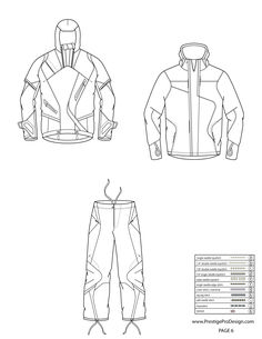 illustrator fashion templates free_jacket