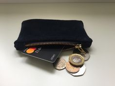 Suede Navy Coin Purse £11.00