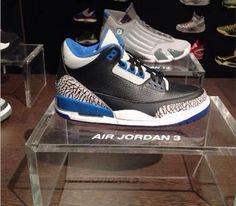 Air Jordan III-Black-Sport Blue-Wolf Grey (Summer 2014) Preview
