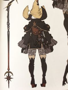 lady-of-ishgard:  Black Mage AF from Heavensward Artbook  I can't wait to wear this