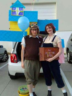 These Young Ellie and Carl from  Up  Costumes are fun and colorful.  sc 1 st  Pinterest & 26 best UP movie Costumes images on Pinterest | Movie costumes ...