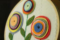 Easy Felt Flower Hoop Art - Do Small Things with Love