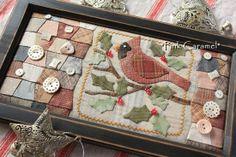 Cardinal patchwork by Sakae Yoshihara
