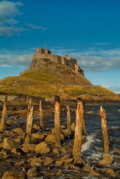 Lindisfarne Castle is a 16th century castle located on Holy Island, near Berwick-upon-Tweed, Northumberland, England, much altered by Sir Edwin Lutyens in 1901.  The island is accessible from the mainland at low tide by means of a causeway.
