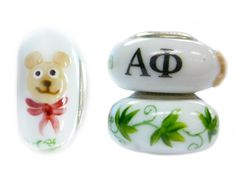 Alpha Phi Glass Bead Fits Pandora – Sorority Jewelry