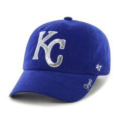MLB Kansas City Royals Women's Sparkle Team Color Cap, One-Size, Royal