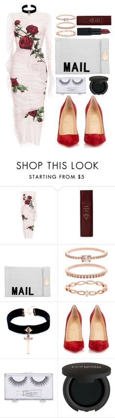 """Untitled #1279"" by meelstyle ❤ liked on Polyvore featuring Dolce&Gabbana, Byredo, Akira, Accessorize, VSA, Christian Louboutin, Sonia Kashuk, Gorgeous Cosmetics and NARS Cosmetics"
